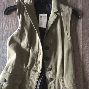Rag and Bone vest 2 olive green